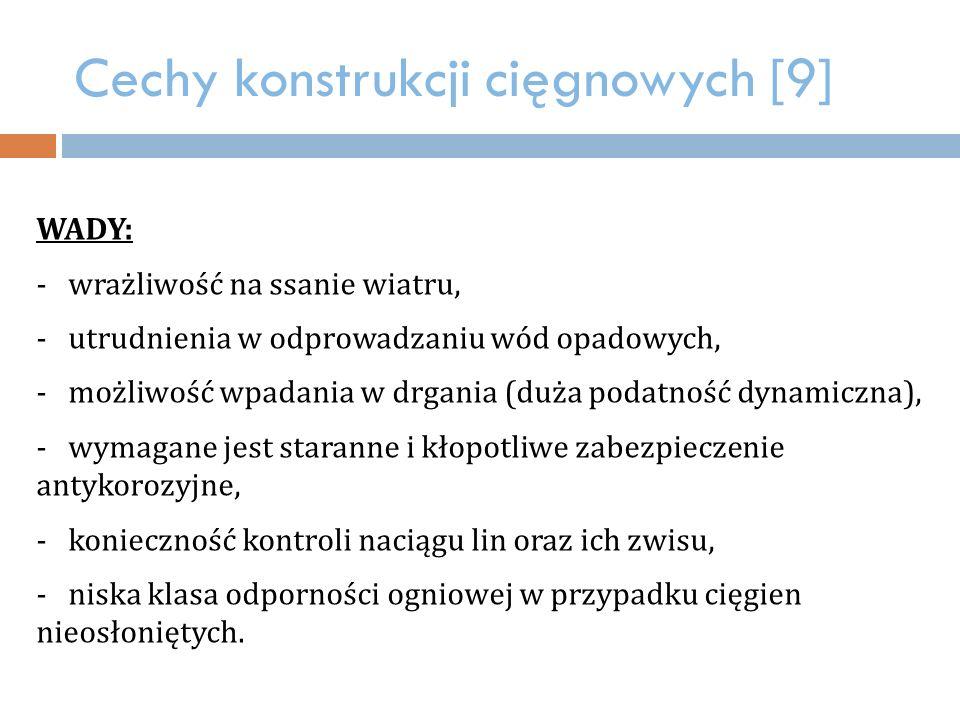 Cechy konstrukcji cięgnowych [9]